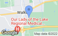 Map of Walker, LA