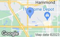 Map of Hammond, LA