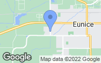 Map of Eunice, LA