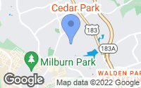 Map of Cedar Park, TX