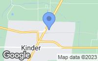 Map of Kinder, LA