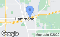 Map of Hammond, LA