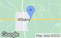 Map of Albany, LA
