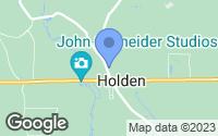 Map of Holden, LA