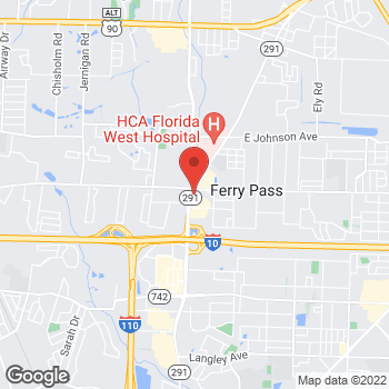Map of Arby's at 8096 N Davis Hwy, Pensacola, FL 32514