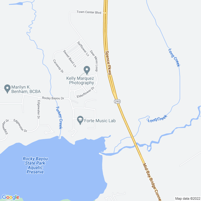Map of Mid-Bay Connector (Spence Parkway)