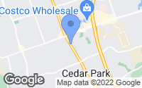 Map of Cedar Park, TX