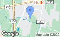 Map of Hutto, TX