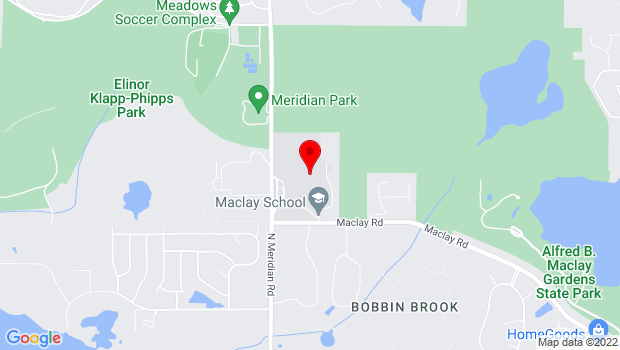 Google Map of 3737 North Meridian Road, Tallahassee, FL 32312