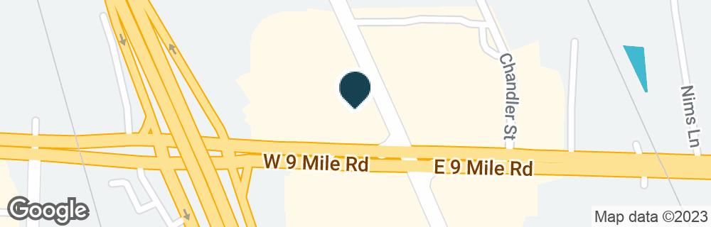 Google Map of20 W NINE MILE RD