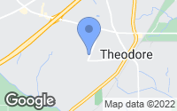 Map of Theodore, AL