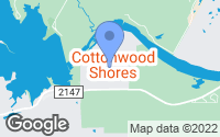 Map of Cottonwood Shores, TX