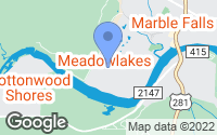 Map of Meadowlakes, TX