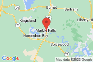 Map of Marble Falls