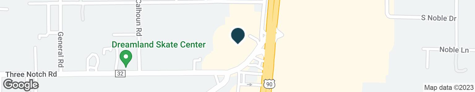 Google Map of5530 THREE NOTCH RD