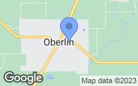 Map of Oberlin, LA