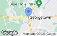Map of Georgetown, TX
