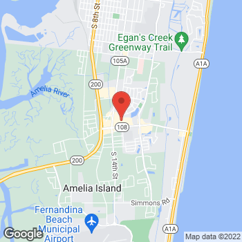 Map of Staples at 1445 Sadler Road, Fernandina Beach, FL 32034