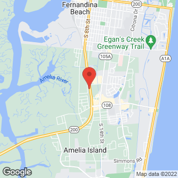 Map of Verizon Authorized Retailer - TCC at 1845 S. 8th Street, Fernandina Beach, FL 32034
