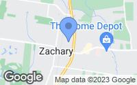 Map of Zachary, LA