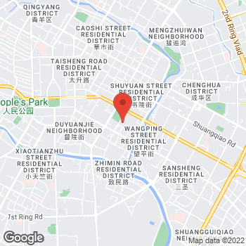 Map of FRED Chengdu Taikooli Boutique at 8 Zhong Shamao Street, Chengdu, Sichuan 610011