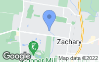 Map of Zachary, LA