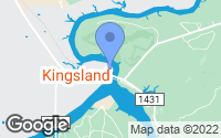 Map of Kingsland, TX
