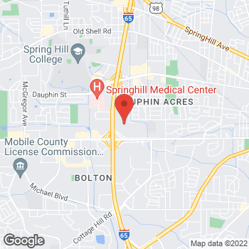 Map of Bed Bath & Beyond at 3250 Airport Boulevard, Mobile, AL 36606