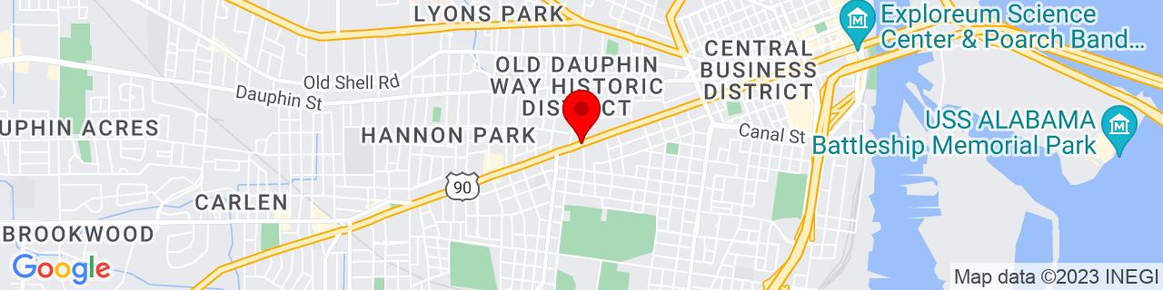 Google Map of 30.6827272, -88.0651936
