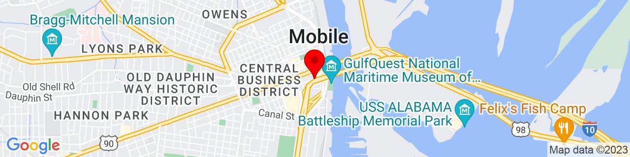 Google Map of 30.6889587, -88.04056369999999