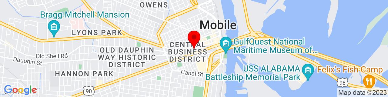 Google Map of 30.68954699999999, -88.0466438