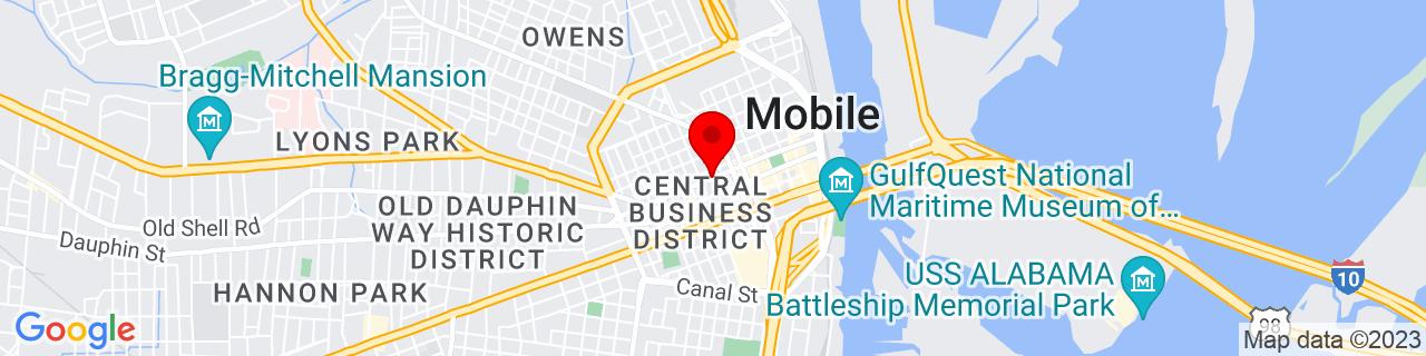 Google Map of 30.6910453, -88.0476005