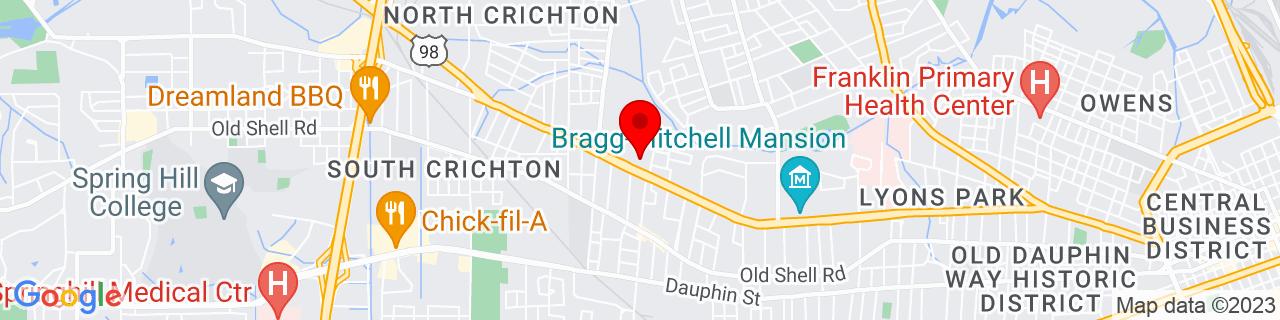 Google Map of 30.69624099999999, -88.100026
