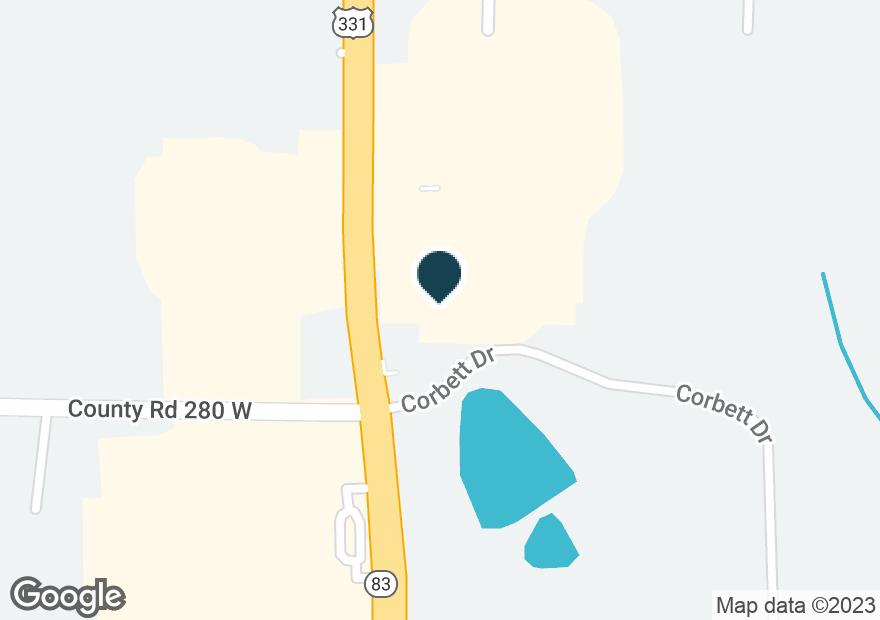 Google Map of1103 US HIGHWAY 331 S