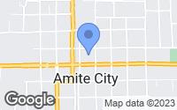Map of Amite, LA