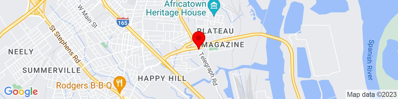 Google Map of 30.73042659999999, -88.0628684