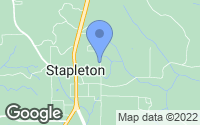 Map of Stapleton, AL