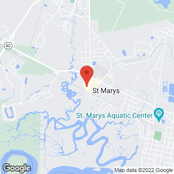 Map of Verizon Authorized Retailer - TCC at 2603 Osborne Road, St. Marys, GA 31558