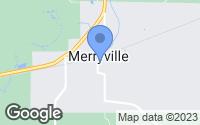 Map of Merryville, LA