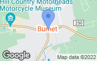 Map of Burnet, TX
