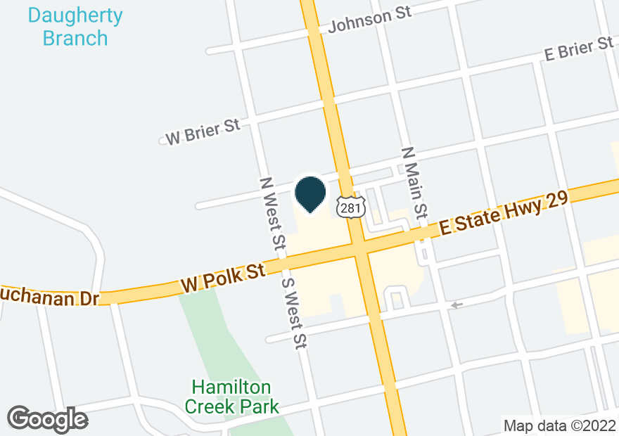 Google Map of100 N WATER ST