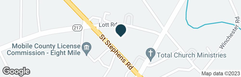 Google Map of4544 SAINT STEPHENS RD