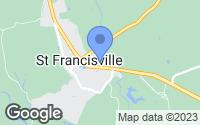 Map of Saint Francisville, LA