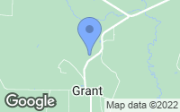 Map of Grant, LA
