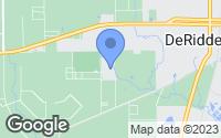Map of DeRidder, LA