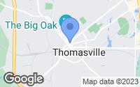 Map of Thomasville, GA