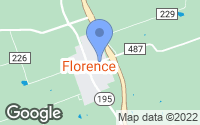 Map of Florence, TX