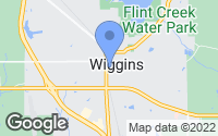 Map of Wiggins, MS