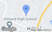 Map of Holland, TX