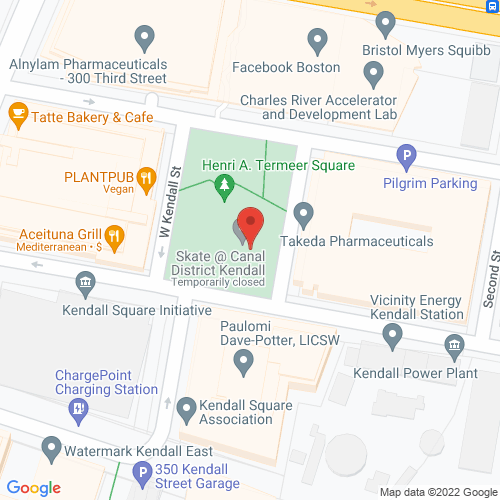 Map of the area around Community Ice Skating @ Kendall Square